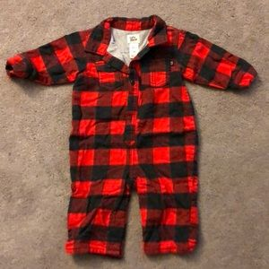 Oshkosh Baby B'gosh 1 piece, big check flannel.